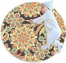 Teppich mit floralem Frühlingsblumen-Muster,