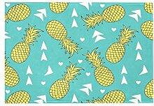Teppich mit gelbem Ananas-Muster, für Esszimmer,