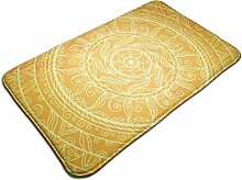 Teppich mit gelbem Blumenmuster, Vintage-Stil,