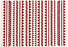 Teppich mit grafischen Motiven Rot 120 x 170 cm