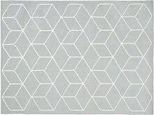 Teppich mit grauen und weißen Motiven 140x200cm