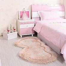 Teppich mit klassischem Musterbereich Teppich Moderner TeppichHerz-Geformter Hochzeits-Teppich Vor Der Bett-Decke Nettes Kind-Raum-Schlafzimmer Voller Ausdehnungs-Seide-Reiner Farben-Teppich