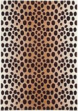 Teppich mit Leopardenmuster, braun (160/230 cm)