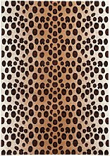 Teppich mit Leopardenmuster, braun (80/150 cm)