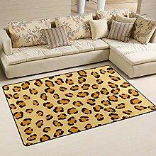 Teppich mit Leopardenmuster, für Wohnzimmer,