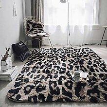Teppich mit Leopardenmuster, weicher,