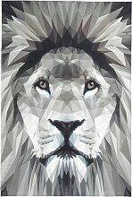 Teppich mit Löwenkopf, beige (155/230 cm)