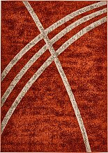 Teppich mit moderner Musterung, orange (140/190 cm)