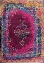 Teppich mit orientalischen Mustern, lila (60/90 cm)