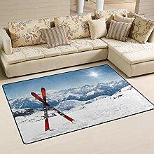 Teppich mit rechteckigem Innen- und Außenbereich,