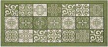Teppich mit rutschfester Rückseite Pfannen Position Maiolica by Suardi 55x140 grün
