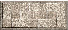 Teppich mit rutschfester Rückseite Pfannen Position Maiolica by Suardi 55x190 Taupe