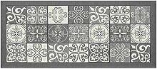 Teppich mit rutschfester Rückseite Pfannen Position Maiolica by Suardi 55x140 grau