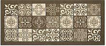 Teppich mit rutschfester Rückseite Pfannen Position Maiolica by Suardi 55x115 Schlamm