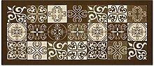 Teppich mit rutschfester Rückseite Pfannen Position Maiolica by Suardi 55x115 braun