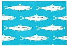 Teppich mit Sardinen-Muster, für Esszimmer,