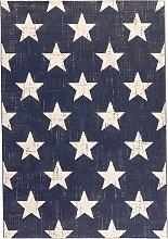 Teppich mit Sternen, blau (60/110 cm)