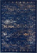 Teppich mit Vintagemusterung, blau (140/190 cm)
