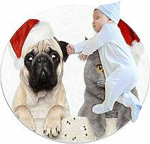 Teppich mit Weihnachtsmotiv für Hunde und Katzen,