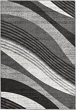 Teppich mit Wellenmusterung, grau (133/190 cm)