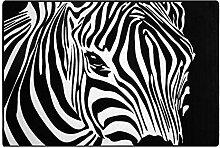 Teppich Mit Zebrakopf Bedruckt, Modernes Leichtes