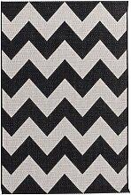 Teppich Modern Chevron black/wool 160x230cm, 160