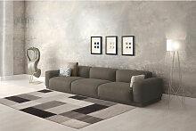 Teppich Modern Design Teppiche Wohnzimmer Grau