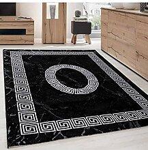 Teppich Modern Designer Bordüre Ornament Marmor