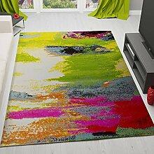 Teppich Modern Designer Splash Muster Multifarben Bunt – VIMODA; Maße: 120x170 cm