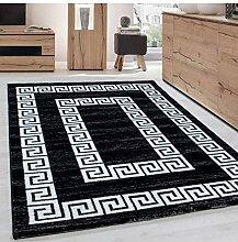 Teppich Modern Designer Wohnzimmer Bordüre