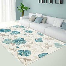 Teppich Modern Designer Wohnzimmer Schlafzimmer Läufer Inspiration Allure Floral Pastell Pink Blau, Größe in cm:80 x 300 cm;Farbe:Blau