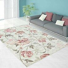 Teppich Modern Designer Wohnzimmer Schlafzimmer Läufer Inspiration Allure Floral Pastell Pink Blau, Größe in cm:80 x 150 cm;Farbe:Pink