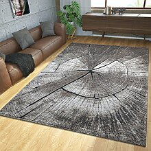 Teppich Modern Edel mit Konturenschnitt Baumstamm