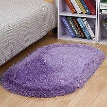 Teppich Modern Einfache Dicke Ovale Schlafzimmer Bedside Mat Wohnzimmer Couchtisch Teppich Fuß Teppich Lebensmittel ( Farbe : J , größe : 80*160cm )