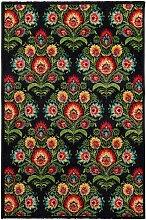 Teppich Modern Folk anthracite 67x130cm, 65 × 130