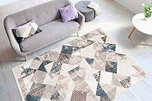 Teppich Modern Fransen Dreieck Design Scandi