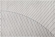 Teppich modern hellgrau 160 x 230 cm PALM
