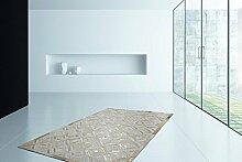 Teppich Modern Leder Teppiche Handgefertig Hochwertig Lederteppich SALE, Größe:160cm x 230cm