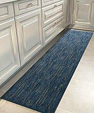 Teppich Modern Simplicity Stripe Bedside Teppich Wasserabsorption Rutschfeste Türmatten Wohnzimmer Sofa Schlafzimmer Teppich Shaggy Teppich ( Farbe : D , größe : 50*300CM )