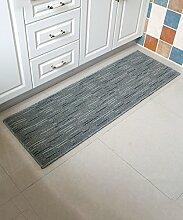 Teppich Modern Simplicity Stripe Bedside Teppich Wasserabsorption Rutschfeste Türmatten Wohnzimmer Sofa Schlafzimmer Teppich Shaggy Teppich ( Farbe : C , größe : 50*350CM )