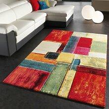 Teppich Modern Splash Designer Teppich Bunt Karo Model Neu OVP, Grösse:120x170 cm