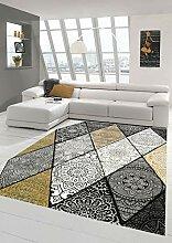 Teppich modern Teppich Wohnzimmer Rauten mit
