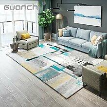 Teppich Moderne Minimalistische Kunst Abstrakte Tinte Wohnzimmer Couchtisch Pad Schlafzimmer Nordic Study Home 120 × 160cm