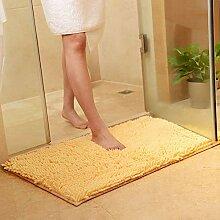 Teppich,Moderne, Zottelige, rutschfeste, Gelbe