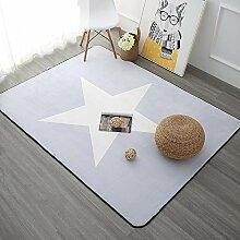 Teppich,Moderne, Zottelige, rutschfeste, Hellgraue