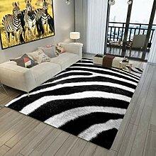 Teppich,Moderne Zottelige rutschfeste Zebramuster