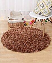 Teppich Moderner Normallack-runder Teppich Einfacher kreativer Teppich-Sofa-Kaffeetisch-Teppich-rutschfeste Tür-Matten-Wohnzimmer-Hall-Schlafzimmer-Teppich Lebensmittel ( Farbe : E , größe : 120*120CM )
