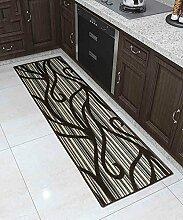 Teppich Moderner Teppich Einfacher kreativer Teppich Sofa Couchtisch Teppich Rutschfeste Türmatten Wohnzimmer Hall Schlafzimmer Teppich Shaggy Teppich ( größe : 50*100CM )
