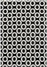 Teppich modernes Design ARLO BUCKLE RUG BLACK 100 cm x 150 cm