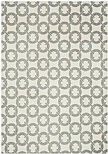 Teppich modernes Design ARLO BUCKLE RUG IVORY 100 cm x 150 cm